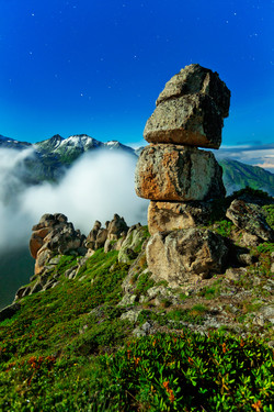 Moonlit Rocks
