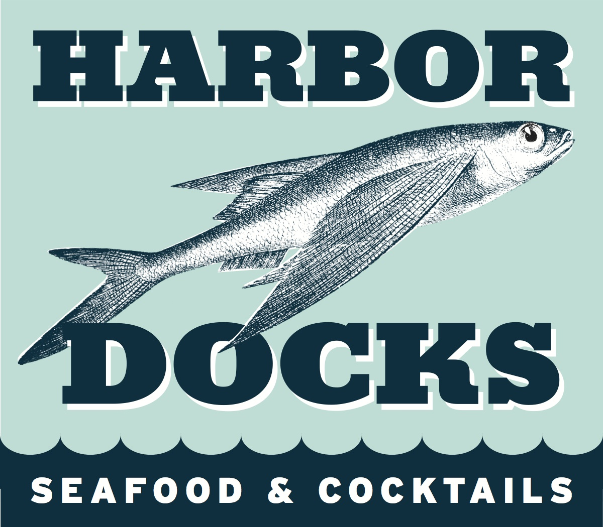 Harbor Docks Sign Logo
