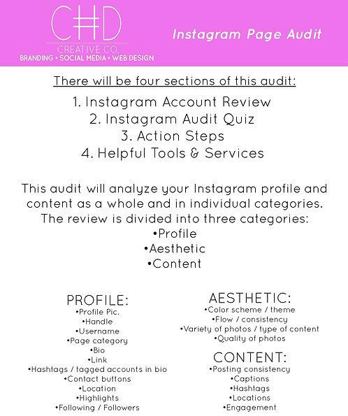 Instagram Page Audit
