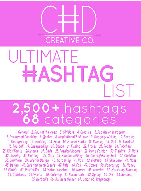 Ultimate Hashtag List
