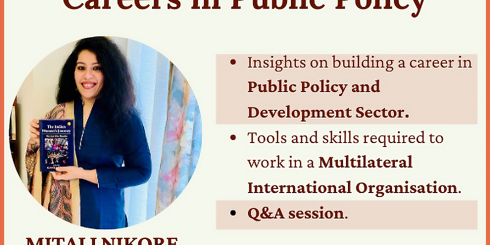 Town Hall session on Careers in Public Policy