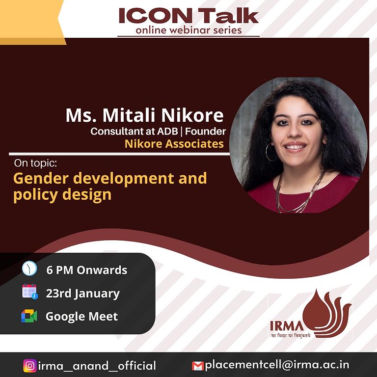 ICON Talk : Gender development and policy design