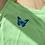 Thumbnail: Butterfly crop top - green