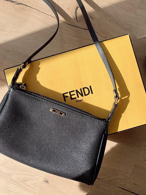 Fendi back leather crossbody bag