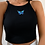 Thumbnail: Butterfly crop top - black