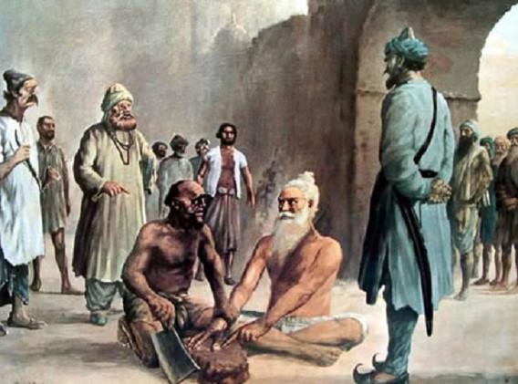 A-portrait-depicting-martyrdom-of-Bhai-M
