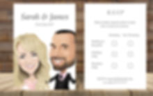 Caricature Reply Cards