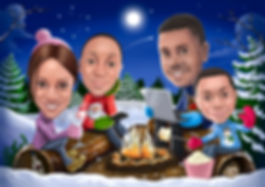 Caricature Christmas Card