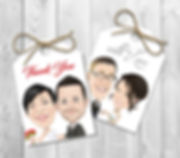 Caricature Gift Tags