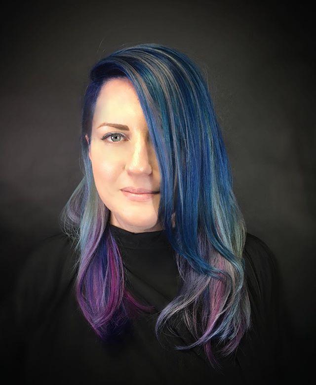 #pulpriot #hairart #hairpainting #rainbowhair #unicornhair #kingstreetsalon #kingstreetva #oldtownva