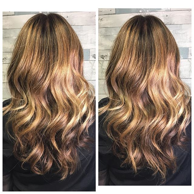 _mo22305 looking beautiful with a  balayage refreash and healthy trim! #ammoniafreecolor #kevinmurph