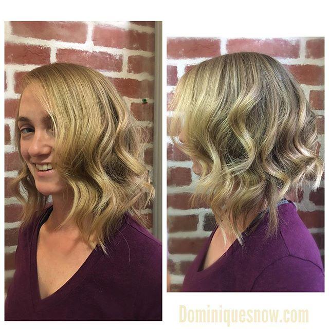 #texturedbob #teturedhair #wavyhair #blondehair  #fall2017 #fallfashion #fallhair #dominiquesnow #do