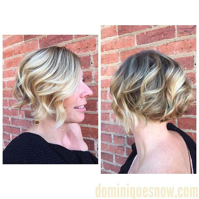 #texturedbob #teturedhair #wavyhair #blondehair #blondebalayage #fall2017 #fallfashion #fallhair #do