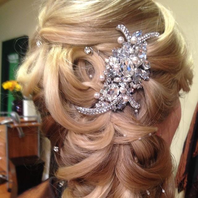 Bridal updo;))