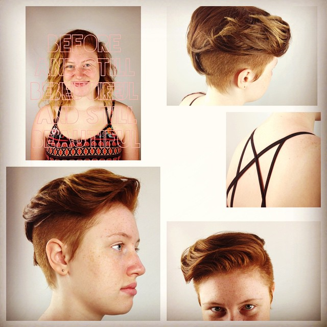 My scissors and I thoroughly enjoyed every last second- I lovvvvvvvvvvvve short haircuts- and long t