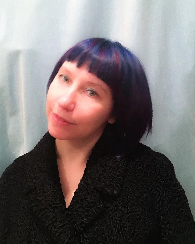 #blueonblue _carolsummersdesign hair by #dominiquesnow #dominiquesnowhair #bluehair