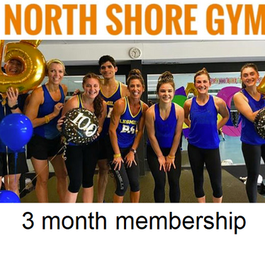 North Shore Gym  A 3 month gym membership - a great way to trial the gym without needing to sign up to a long contract.