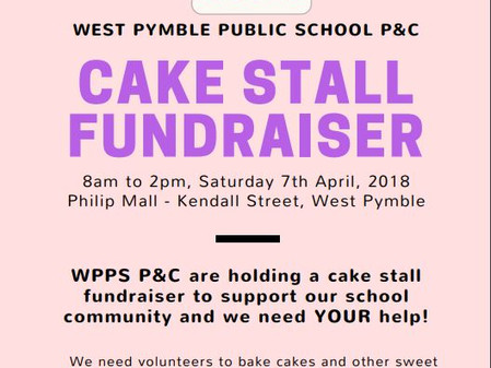 The P&C is holding a Cake Stall!  Save the date - Saturday 7th of April!