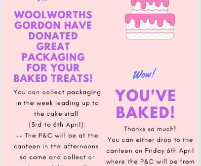 Cake Stall - Saturday 7th of April