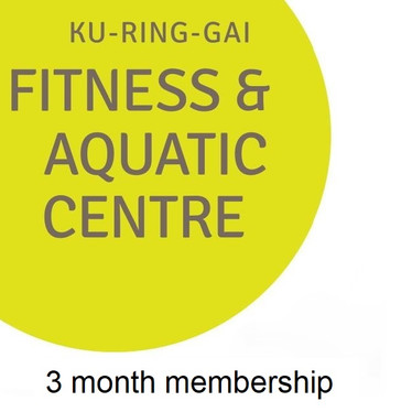Ku-ring-gai Fitness and Aquatic Centre  A 3 month gym membership - a great way to trial the gym and pool without needing to sign up to a long contract.
