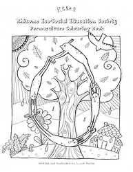 RESES Permaculture Colouring Book Front