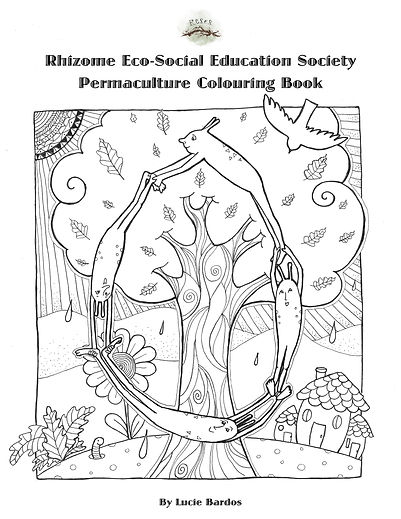 RESES Permaculture Colouring Book Cover.