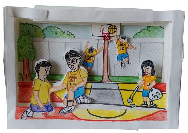 好人好事︰籃球場上
