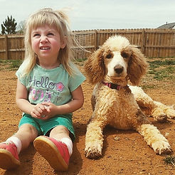 Brynn with Zoe standard poodle