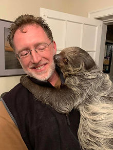 Dr. Chris Carmichael and sloth