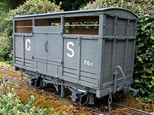 Tralee and Dingle Railway Covered Roof Cattle Wagon Kit