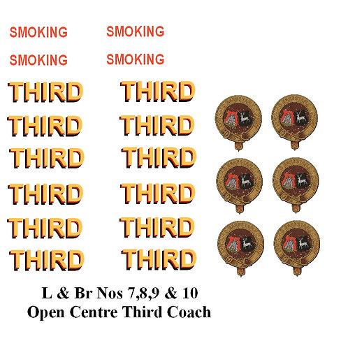 L & Br Nos 7,8,9 & 10 Open Centre Third Coach