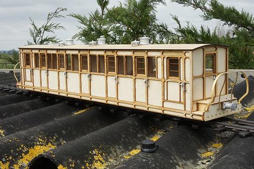 16 mm scale Ffestiniog No15 Bogie Passenger Coach Kit