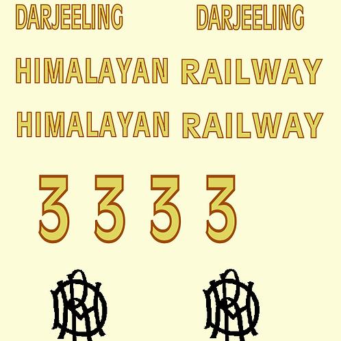 Darjeeling 2nd Generation Third Class Brown & Cream 4 Wheel Saloon Coach Decal