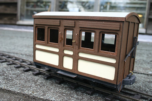 High Roof 4 Wheel Saloon coach kit