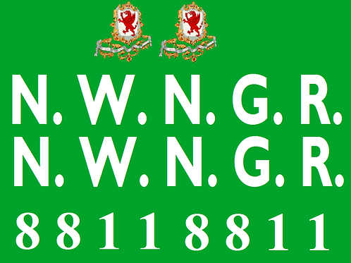 NWNGR Gladstone Coach  Decals £6.00 per set