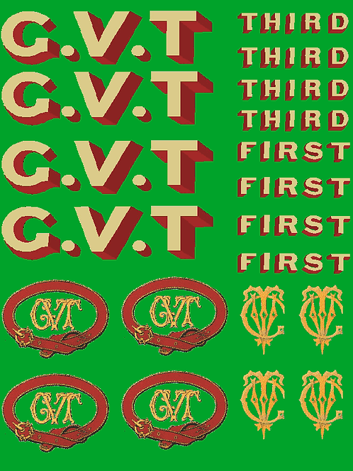 Glyn Valley Tramway Coach Decal  Set (All Coaches) £6.00 per set