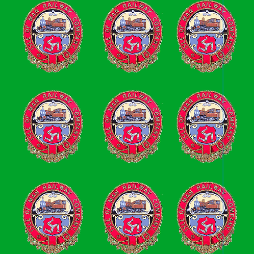 Isle Of Man Crest Decal  Set  15 mm Scale  £6.00 per set