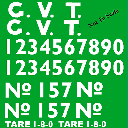 Glyn Valley Tramway 4 Ton Mineral Wagon Decal  Set (suits Binnie Eng Kit) £8.00