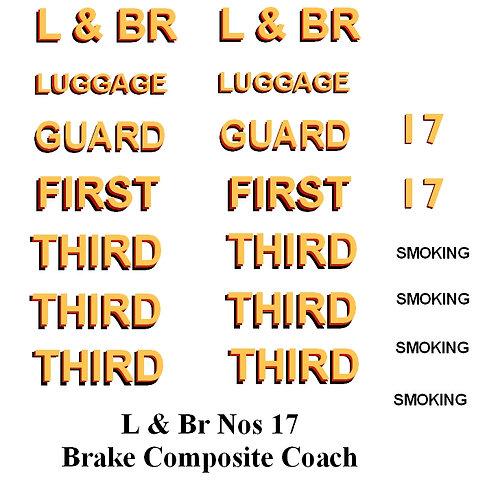 L & Br Nos 17 Brake Composite Coach