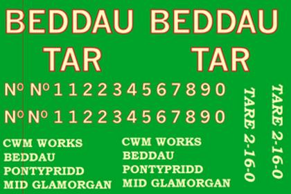 Freelance Beddau Tar Wagon Decal £6.00 per set