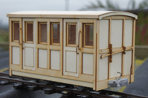 Darjeeling 1st gen 2nd Class Passenger 4 Wheel Coach Kit