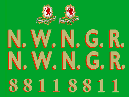 NWNGR Gladstone Coach Colour Decals £6.00 per set