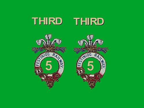 Ffestiniog No 5 First Class Colour Bug Box Coach Decals  £6.00 per set