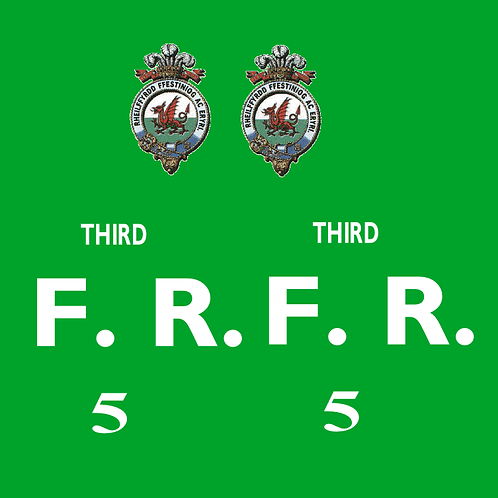 Ffestiniog No 5 First Class Bug Box Coach Decals £6.00 per set