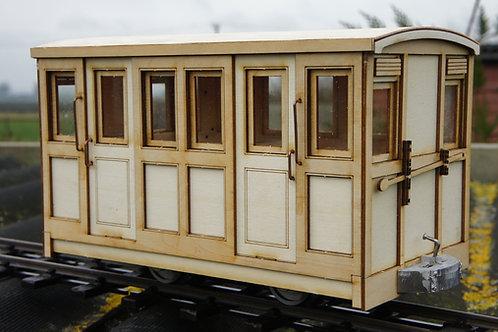 Darjeeling 1st gen 1st Class Passenger 4 Wheel Coach Kit