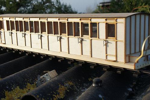 16 mm scale Ffestiniog No16 Bogie Passenger Coach This coach runs today on the