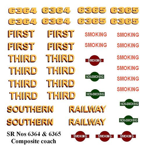 SR Nos 6364 & 6365 Composite coach