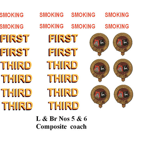 L & Br Nos 5 & 6 Composite  coach