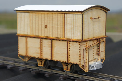 16mm Scale Darjeeling 4 Wheel Leeds Luggage Wagon kit