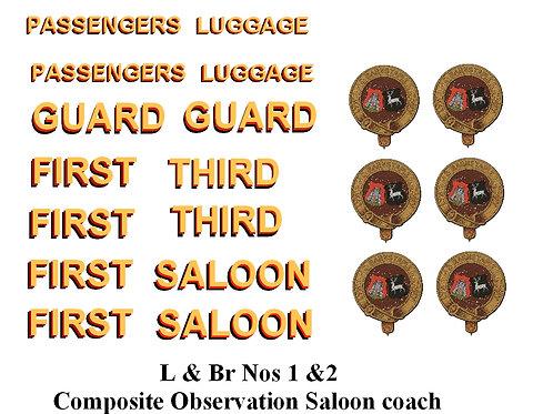 L & Br Nos 1 &2 Composite Observation Saloon coach
